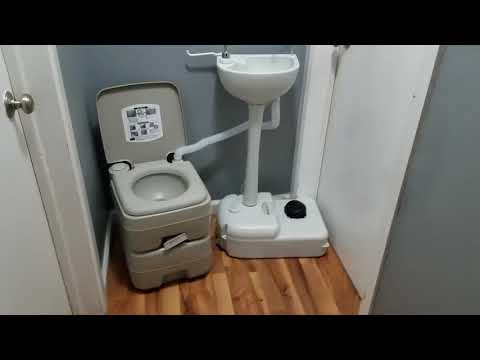 Portable Toilet And Sink Combo! How Does It Work?