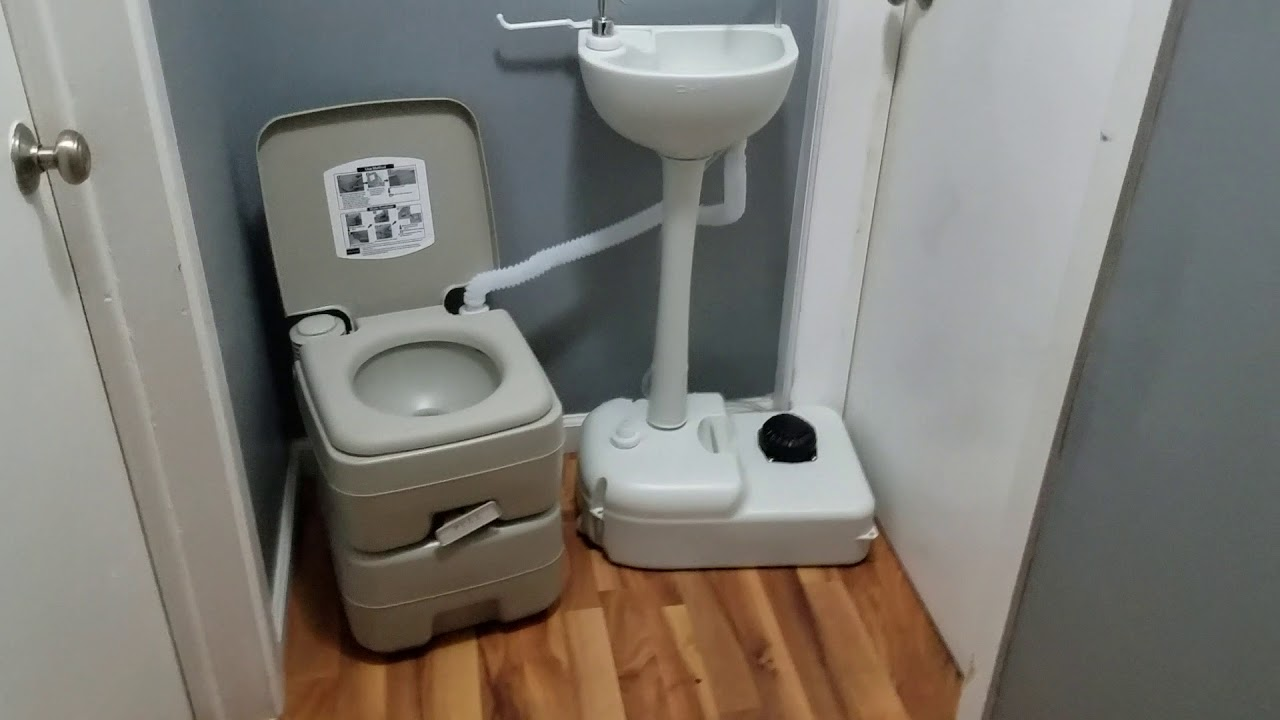 portable toilet and sink combo how does it work 14028