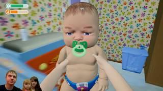 СИМУЛЯТОР МАМЫ Малыш играет в игрушки видео мультик для детей от GameBox