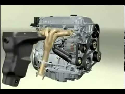 How a Car Engine Works (Labeled parts)