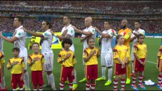 USA and Portugal National Anthems - World Cup 2014