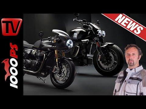Triumph Rocket TFC und Thruxton TFC – brandneue Edelbikes der Briten!