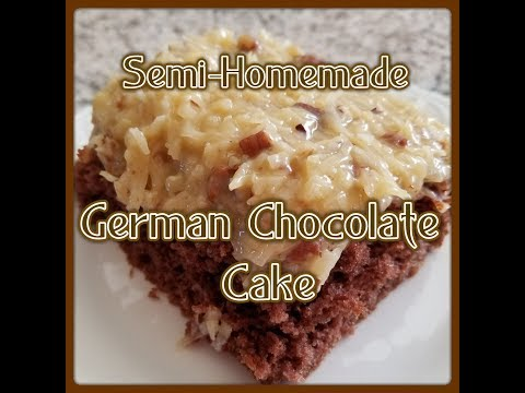 How To Make A Delicious Semi-homemade German Chocolate Cake Breville & KitchenAid (043)