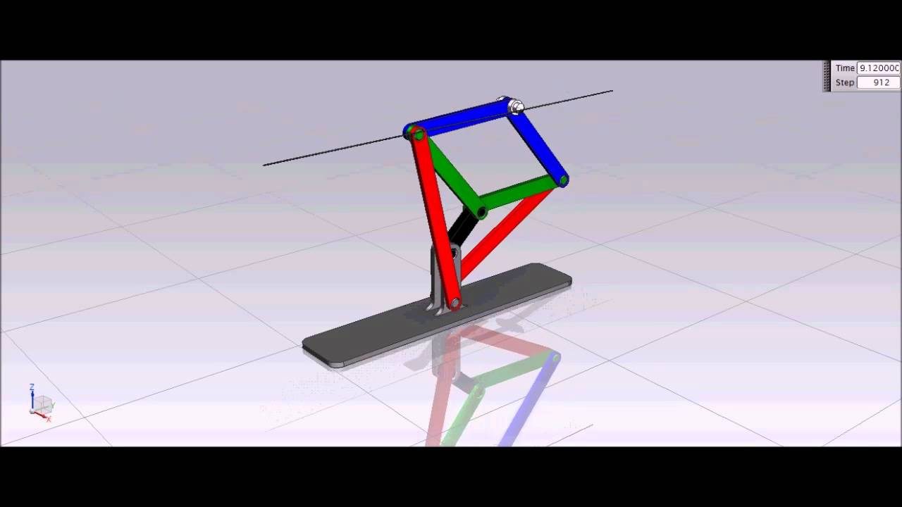 Simple Linkage Mechanisms : How peaucellier straight line motion mechanism works youtube