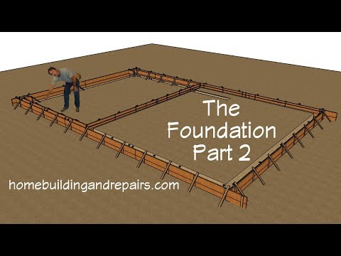 Two Story Open Floor Plan - Forming, Rebar And Concrete Foundation Construction