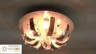Дисковая люстра на пять лампочек с LED подсветкой и пультом ДУ(, 2016-06-01T17:11:00.000Z)