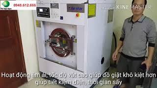 Lắp đặt máy giặt công nghiệp su star  Cung cấp hóa chất giặt là tại Cầu Giấy Hà Nội