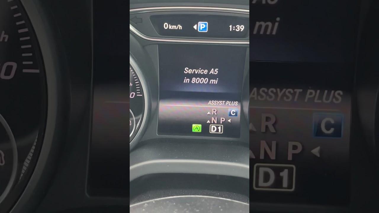 Mercedes-Benz Trip Computer: A5 Service in 8000 Miles ...