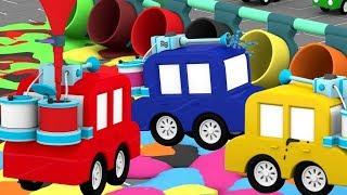 Lehrreicher Zeichentrickfilm - Die 4 kleinen Autos - Das blaue Auto steckt in Schwierigkeiten