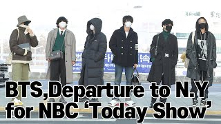 BTS(방탄소년단), Departure to N.Y for NBC 'Today Show'
