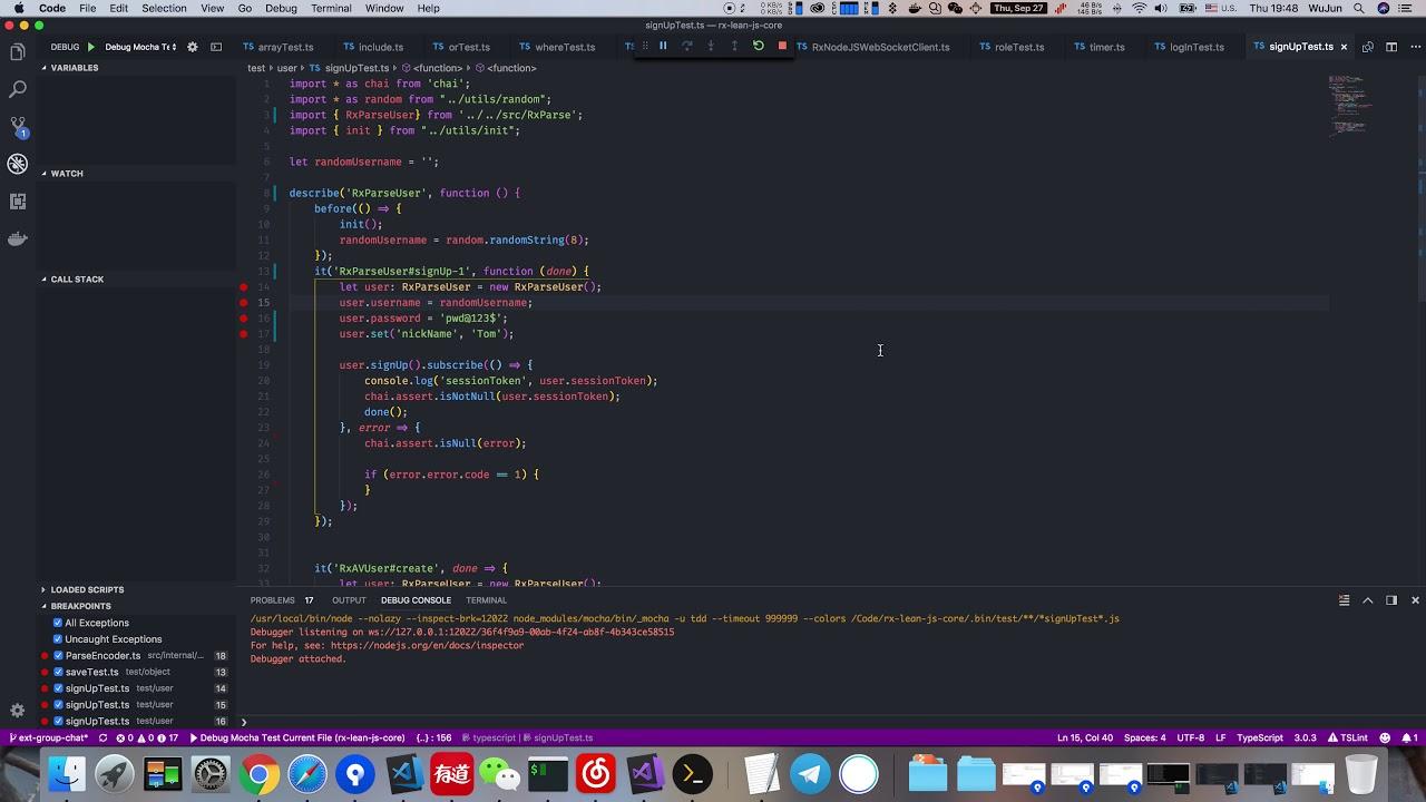 VSCode Debug TypeScript with Mocha