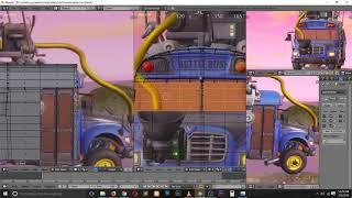 how to model fortnite battle bus in blender tutorial timelapse speed modeling tutorial