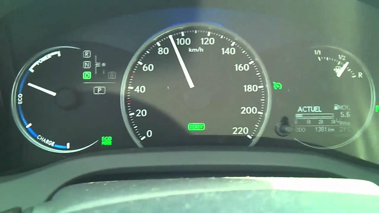 Lexus Ct 200h Essai Acceleration Reprise Mode Sport Eco