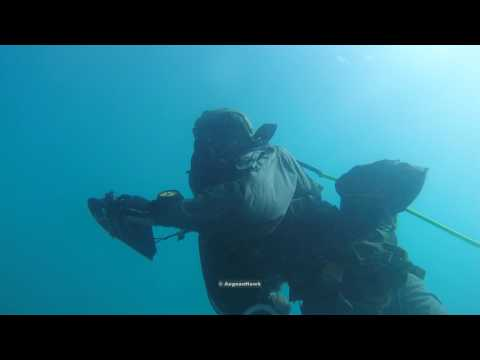 Hellenic Army Special Forces underwater training.