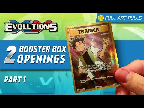 Opening 2 Pokemon XY Evolutions Booster Boxes | PART 1 (FULL ART SUPPORTERS)