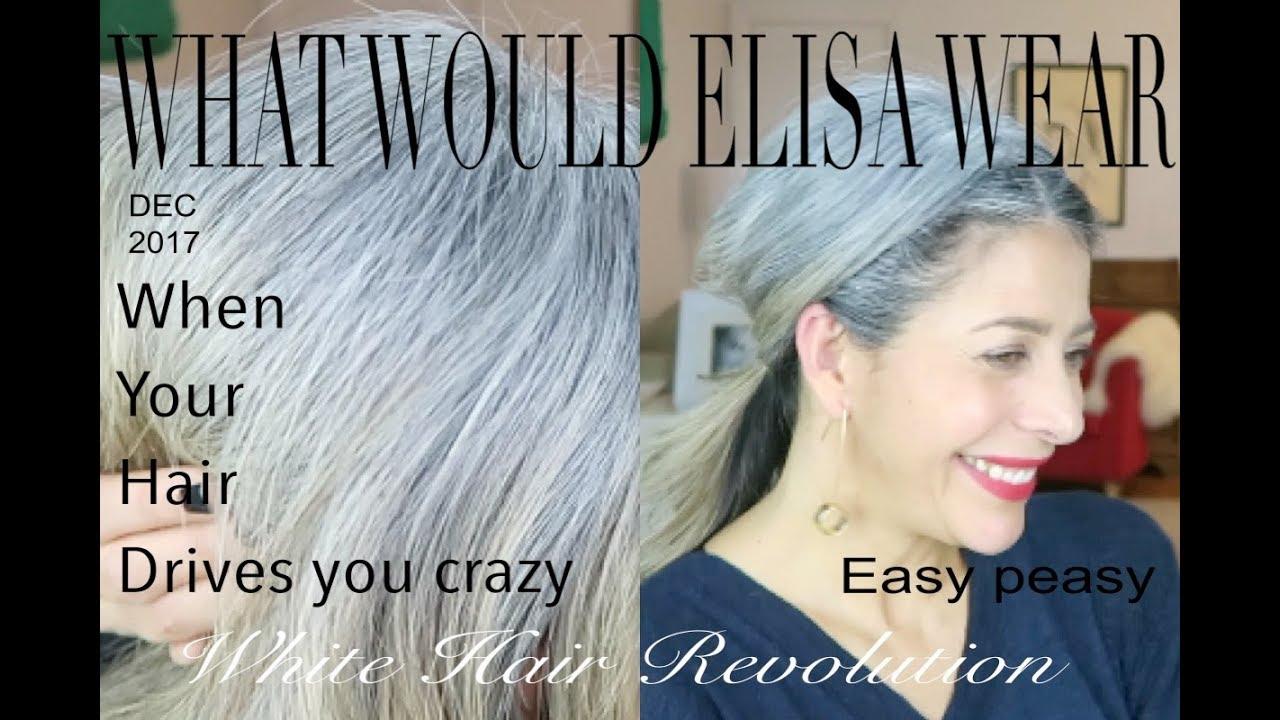 deeeb5697cb74 Messy bun ponytail for over 50