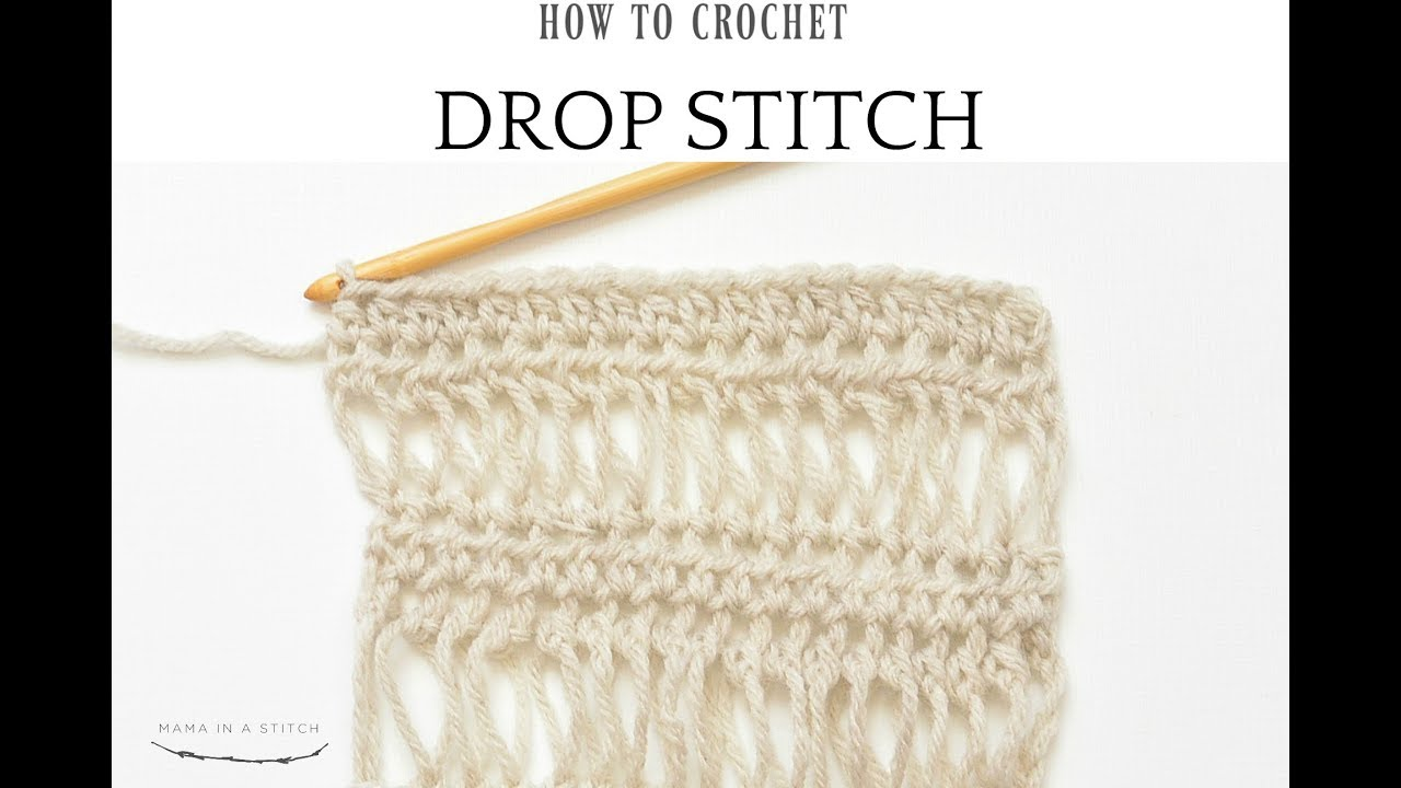 74c837ee3 How To Crochet The Beautiful Drop Stitch - YouTube