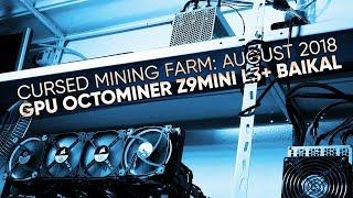 Cursed Mining Farm #5: August 2018 (GPU Octominer Antminer Z9Mini L3+ Baikal)