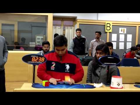 8.89 Official 3x3 Rubik's Cube Average! -Aryan Chhabra