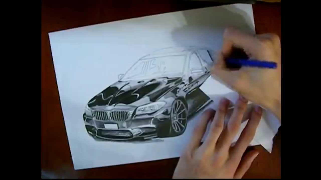 Bmw M5 Karakalem Araba  U00c7izimi   Speed Drawing Car