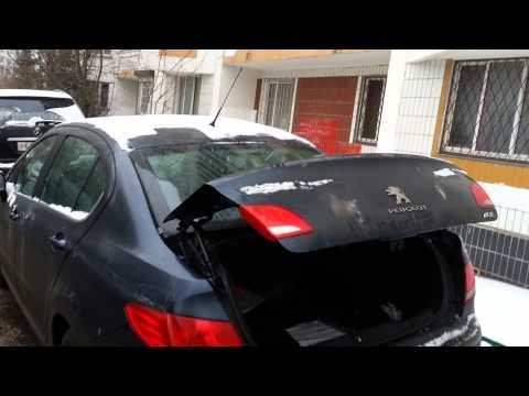 Peugeot 408, автоматическое открывание багажника