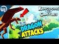 BUILDING BIG CASTLE & DRAGON ATTACKS VILLAGE | Kingdoms and Castles Gameplay