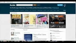How to Signup In Scribd Account and How to Upload File
