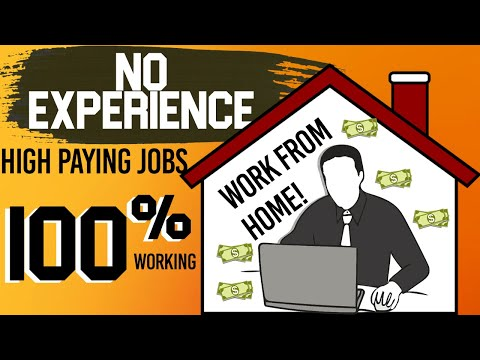 NO EXPERIENCE Work From Home Jobs that pay A LOT! ( Make Money Online)