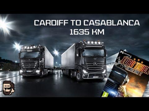 Euro Truck Simulator 2: Trucksim-Map v2.0 - Cardiff to Casablanca 1635km (time-lapse)