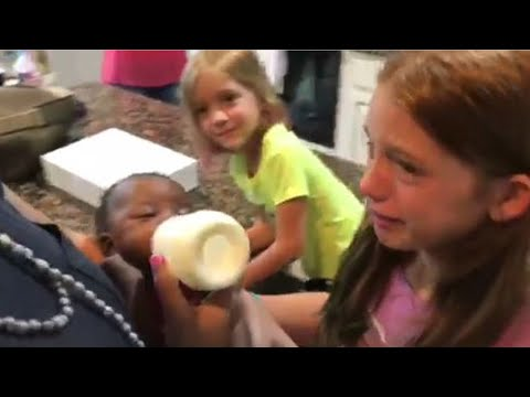 Daughters Burst Into Tears When Mom Surprises Them With Adopted Baby Sister