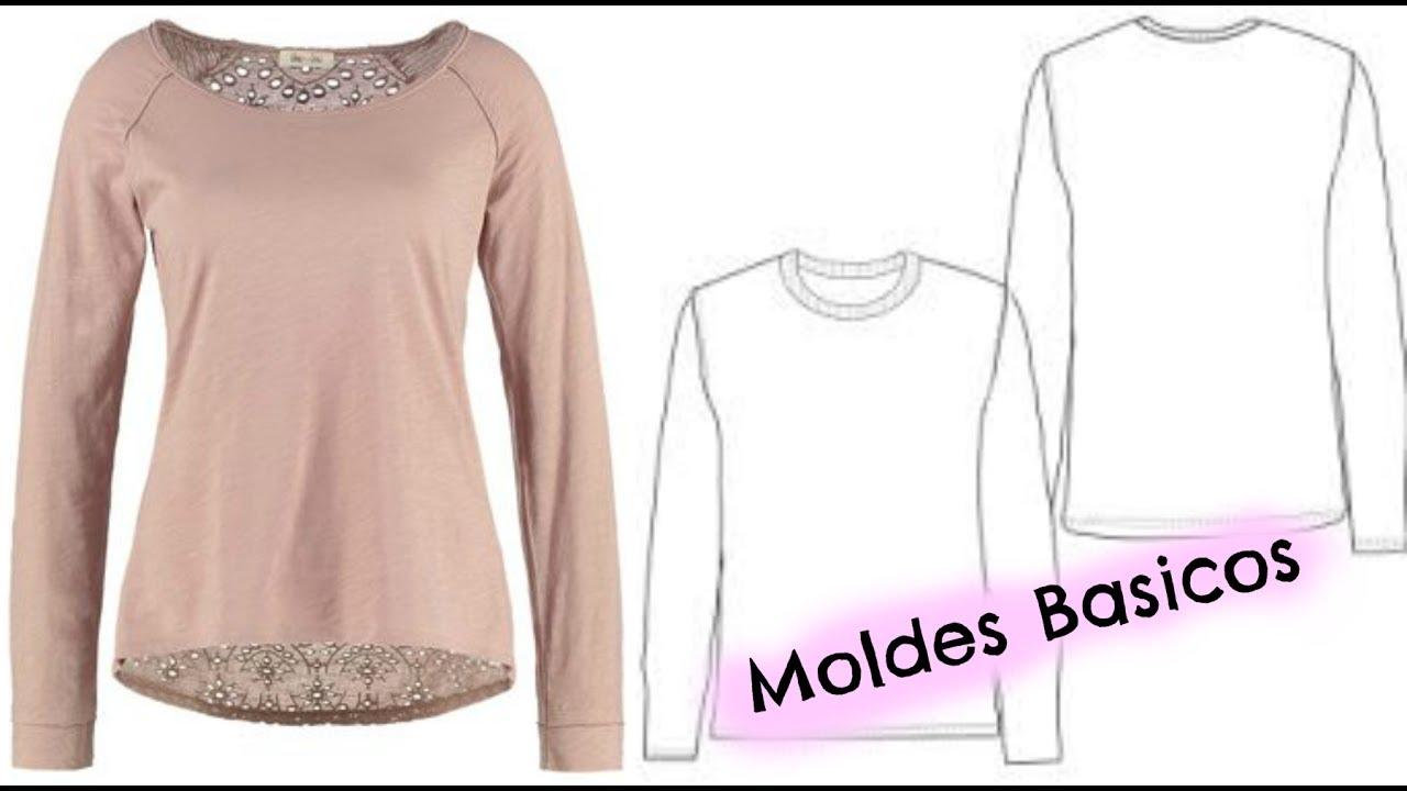 Como hacer patrones de tu ropa / molde basico   Katirya Rodriguez ...