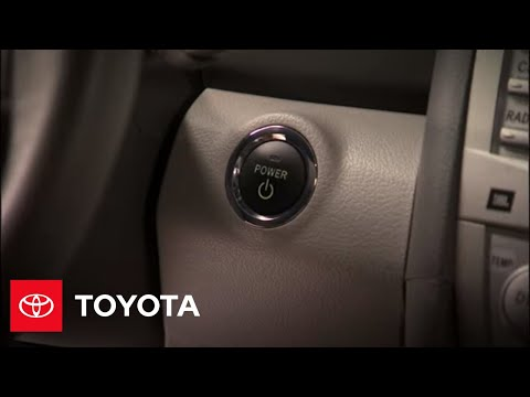 2010 camry hybrid how to push button start toyota youtube. Black Bedroom Furniture Sets. Home Design Ideas