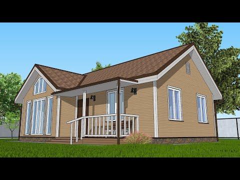 Бесплатный Проект Дома 7 на 10 , планировка 50 квадратов