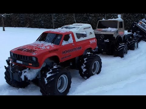 TOYOTA Hilux Arctic Nikko & FORD Ranger Taiyo - Old Cars RC