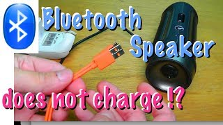Bluetooth speaker does not charge - EASY FIX