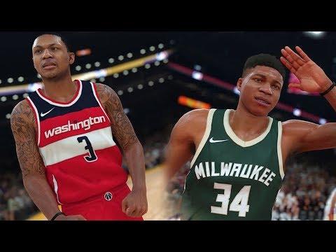 NBA 2K18 Official Giannis Antetokounmpo & Bradley Beal Rating and Screenshots!