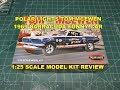 POLAR LIGHTS TOM MONGOOSE MCEWEN 1969 BARRACUDA FUNNY CAR 1:25 MODEL KIT REVIEW POL953