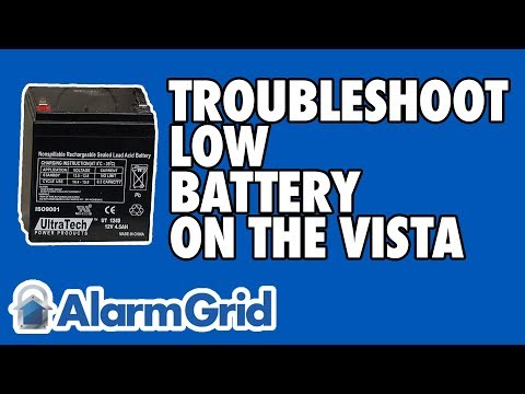 Troubleshooting A Low Battery Condition On A VISTA Panel