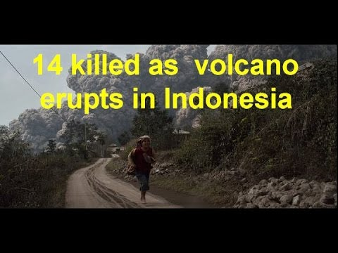 Mount Sinabung volcano erupts in Indonesia