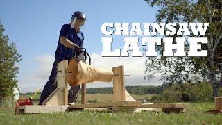DIY Chainsaw Lathe