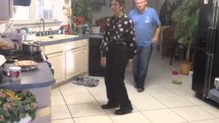 Wild dancing from papa Johnny and grandma Lupe! Thumbnail