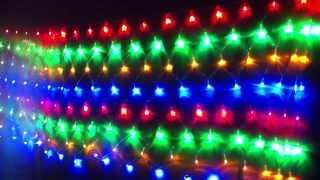 Гирлянда сетка(Светодиодные гирлянды имеют ряд преимуществ: - более чистый и яркий свет - не мерцают и не утомляют зрение..., 2013-11-05T09:32:23.000Z)