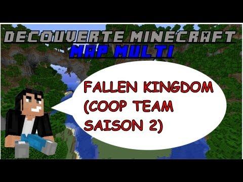 Découverte Minecraft - Map multi Fallen Kingdom (saison 2 coop team) - Xbox 360