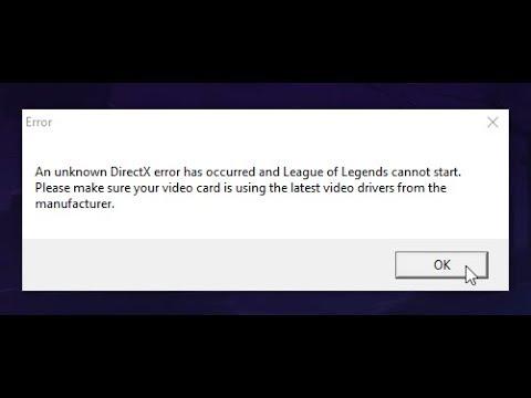 error directx lol windows 7 2018