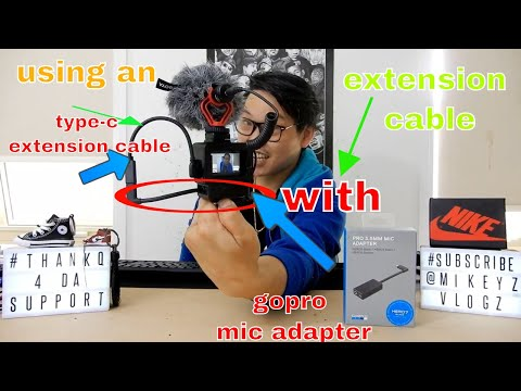 GOPRO HERO 5/6/7 BLACK USING A USB TYPE-C EXTENSION CABLE WITH MIC ADAPTER...IT WORKS!!!!!