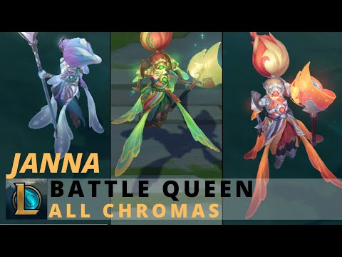 Battle Queen Janna All Chromas - League Of Legends