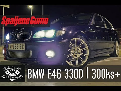 SPALJENE GUME Test: BMW 330d E46 | 300+ KS | 4K