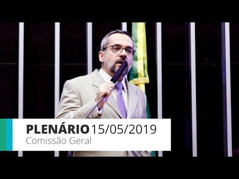 Plenário - Comissão Geral ouve ministro da Educação - 15/05/2019 - 18:48