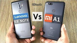 Mi A1 vs Lenovo K8 Note | Battery, Gaming, Design & Build, Camera, Sound