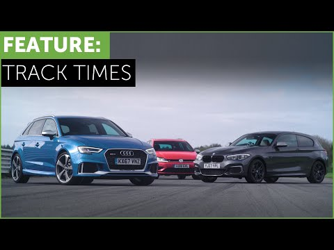 What s the fastest hot hatch on track BMW M140i Audi RS3 VW Golf R w Tiff Needell